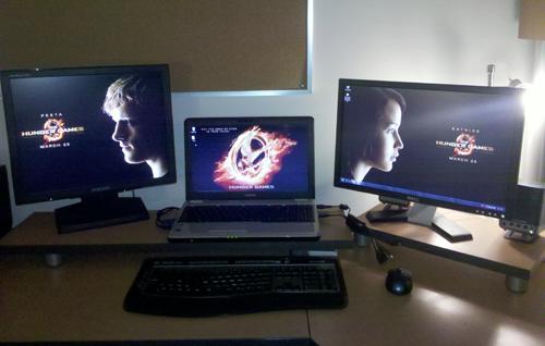Multiple Computer Setup - Desktop + Laptop + Extra Monitor