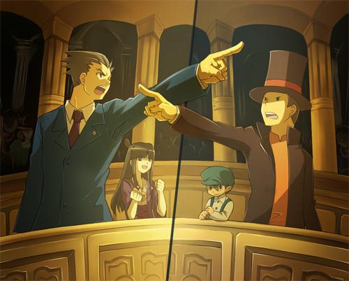 Phoenix Wright vs. Professor Layton