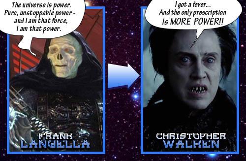 Skeletor = Christopher Walken