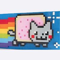 Pop Art Pop Tart: Moving LEGO Nyan Cat