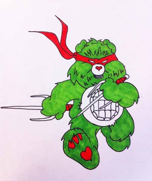 Ninja Turtle Care Bear