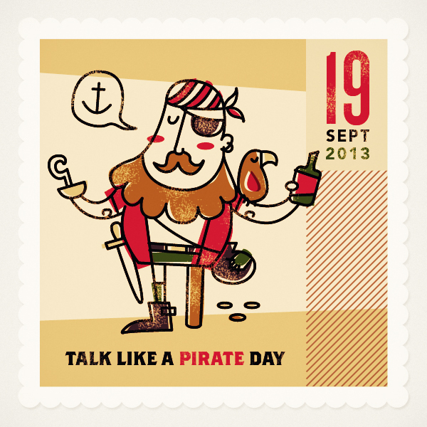 Friendly remindarrr! Today is Talk Like a Pirate Day