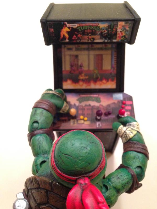 Front View of TMNT Mini Arcade